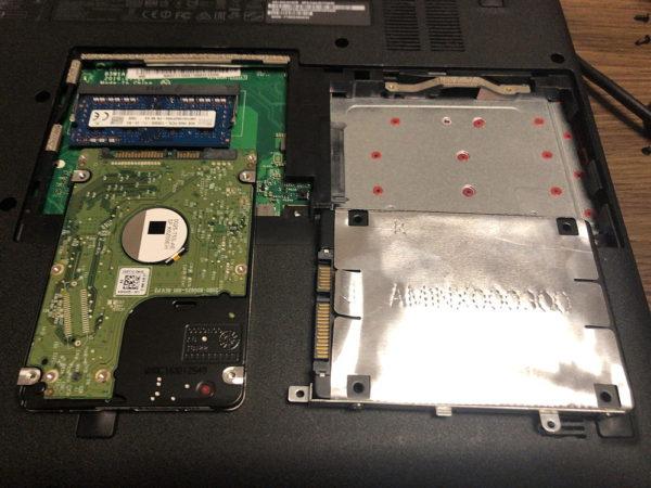 SSD交換とメモリ増設で古いノートパソコンを高速化する